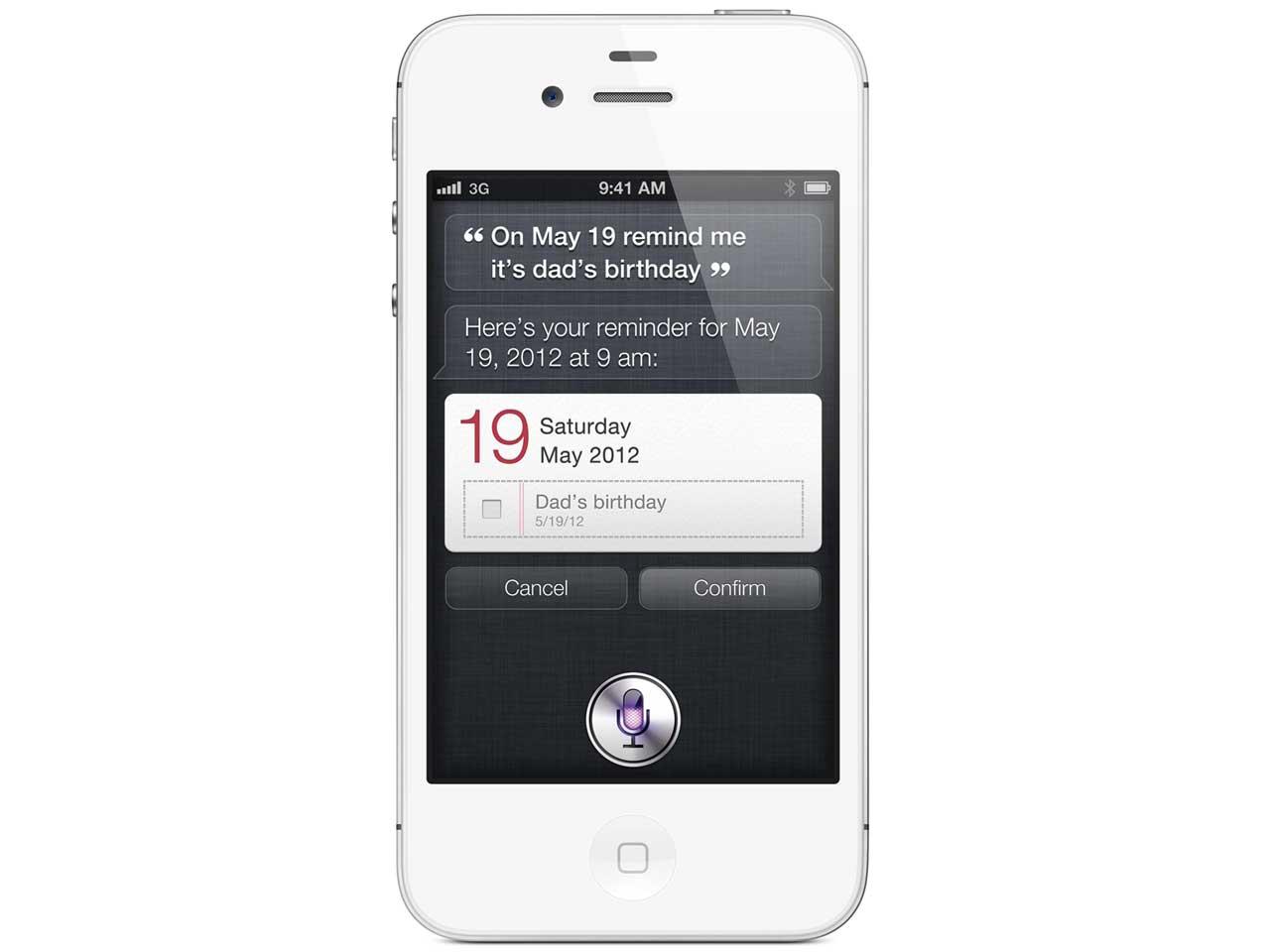 『本体 正面2』 iPhone 4S 16GB au [ホワイト] の製品画像