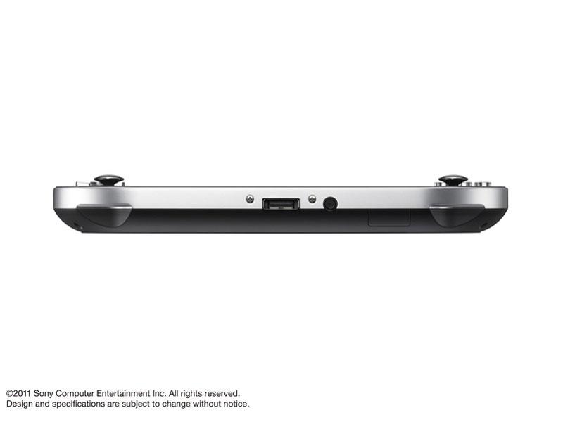 『本体 底面』 PlayStation Vita (プレイステーション ヴィータ) 3G/Wi-Fiモデル PCH-1100 AA01 [クリスタル・ブラック 初回限定版] の製品画像