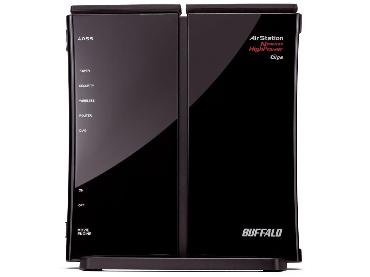 『本体 縦置き 右側面』 AirStation NFINITI HighPower Giga WZR-HP-G302HA の製品画像