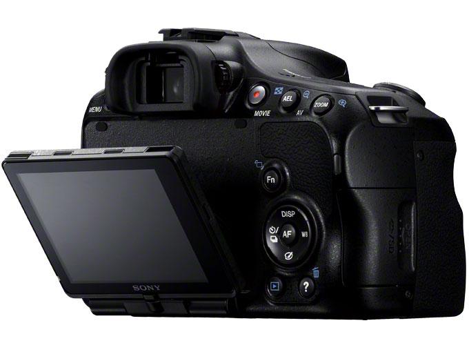 『本体 背面 斜め1』 α57 SLT-A57Y ダブルズームレンズキット の製品画像