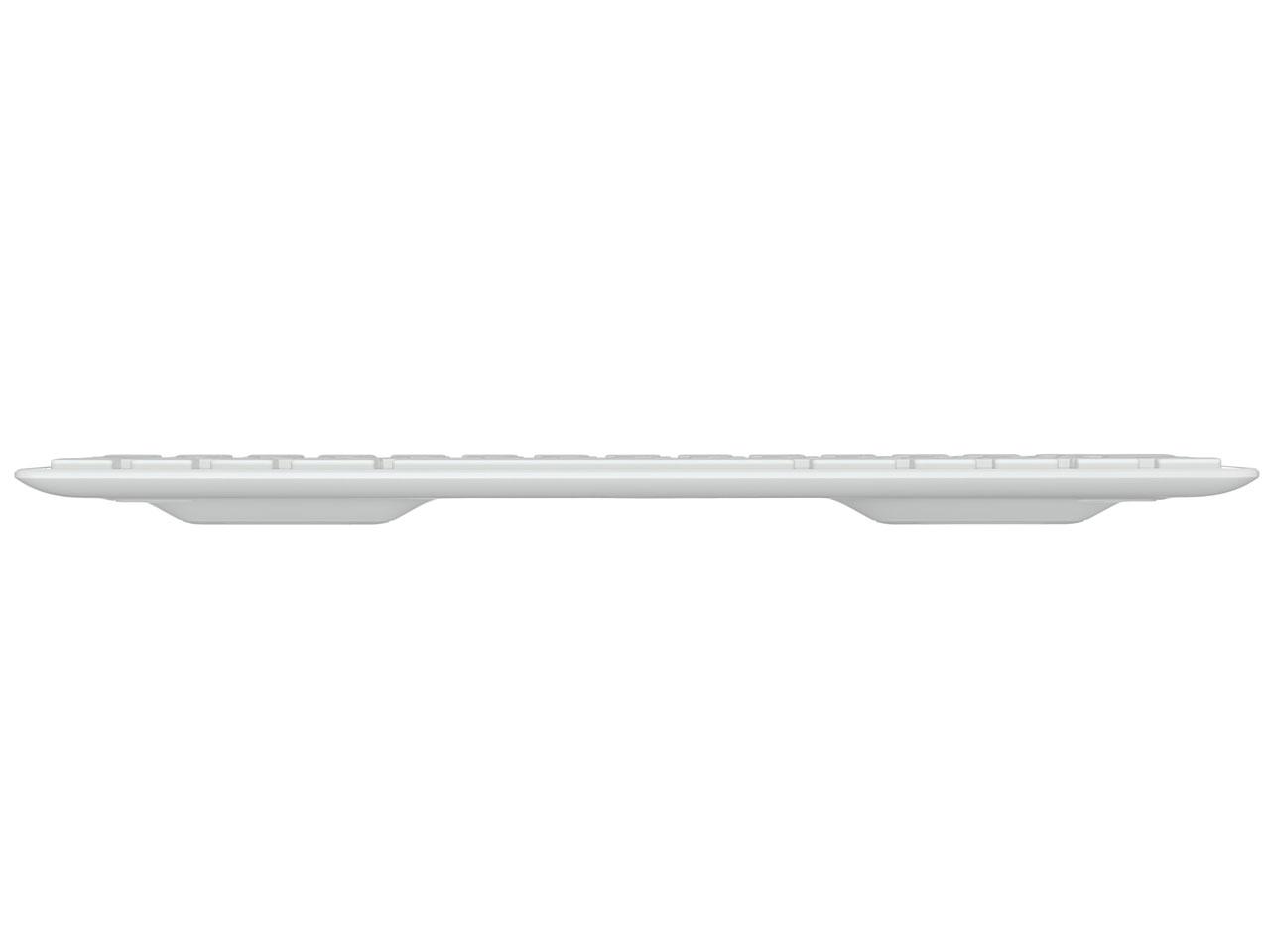 『本体 底面』 Wireless Solar Keyboard K760 [シルバー/ホワイト] の製品画像