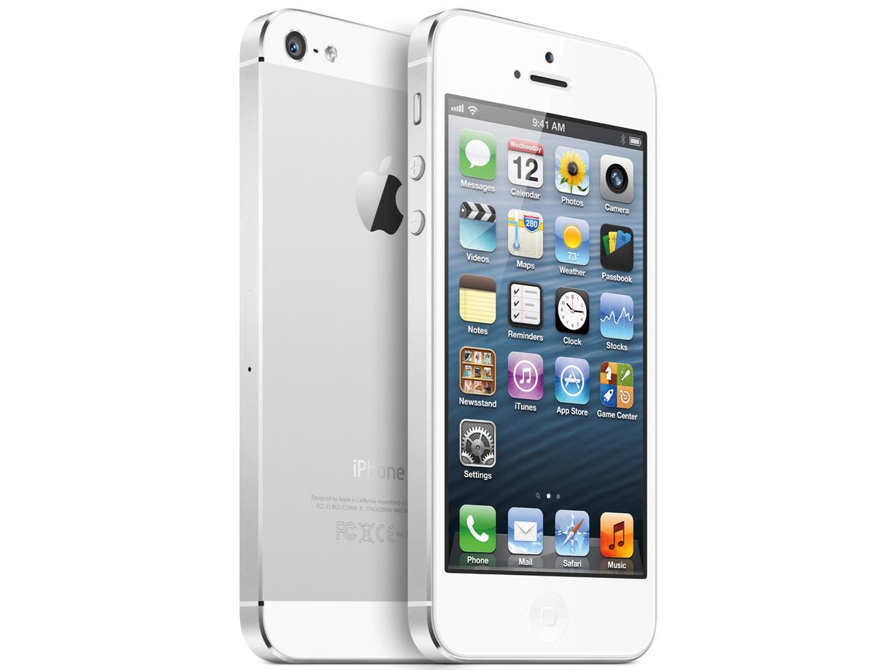 iPhone 5 16GB au [ホワイト&シルバー] の製品画像