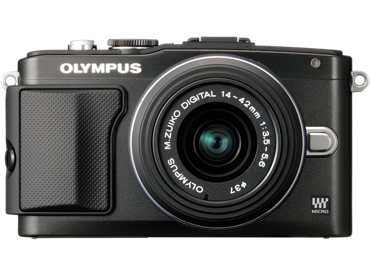 『本体 正面』 OLYMPUS PEN Lite E-PL5 レンズキット [ブラック] の製品画像