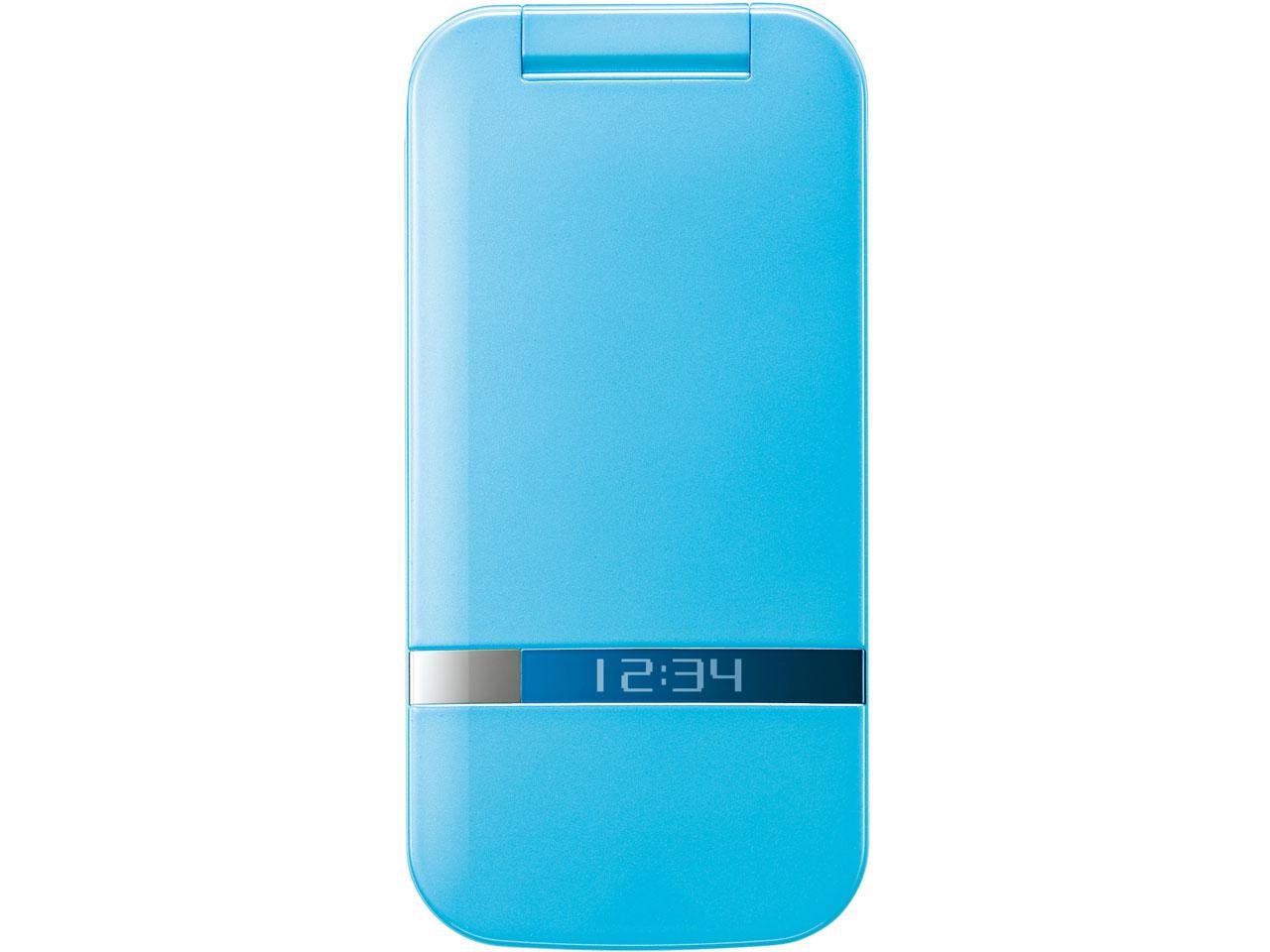 『本体 閉じ 正面』 PANTONE WATERPROOF 202SH SoftBank [ブルー] の製品画像