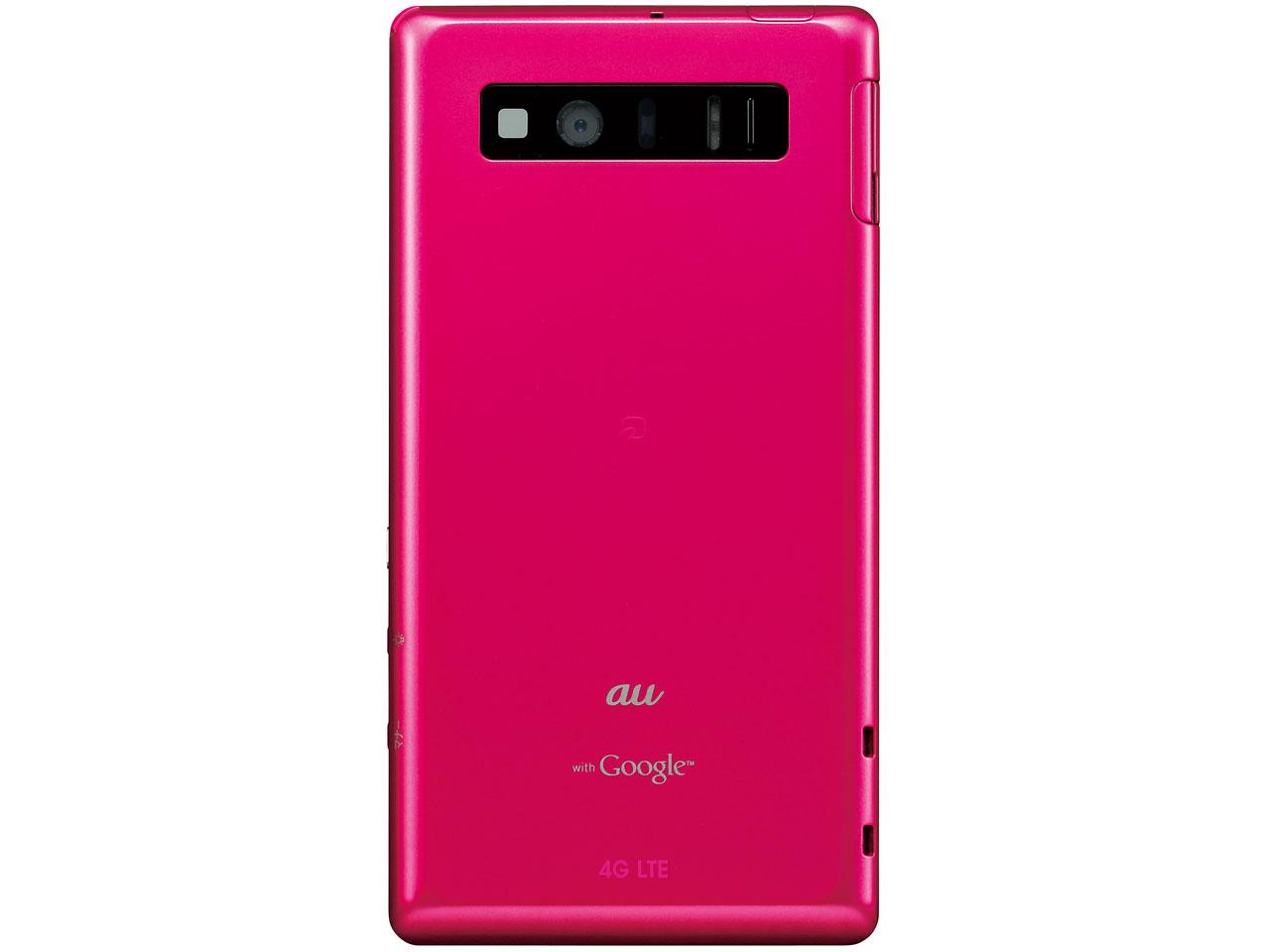 『本体 背面』 AQUOS PHONE SERIE SHL21 au [ブリリアントピンク] の製品画像