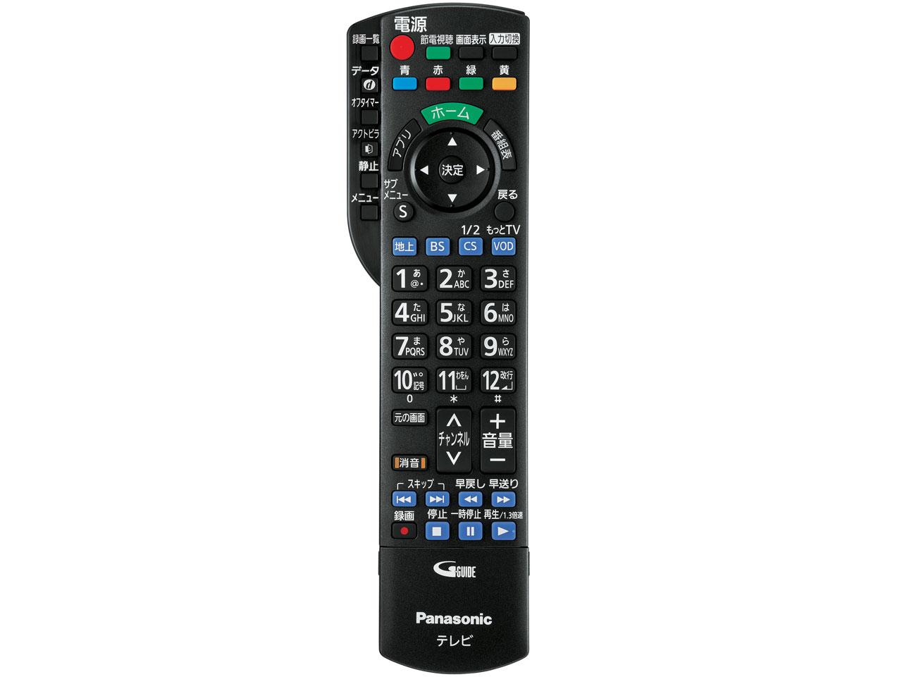 『リモコン』 スマートビエラ TH-P55GT60 [55インチ] の製品画像