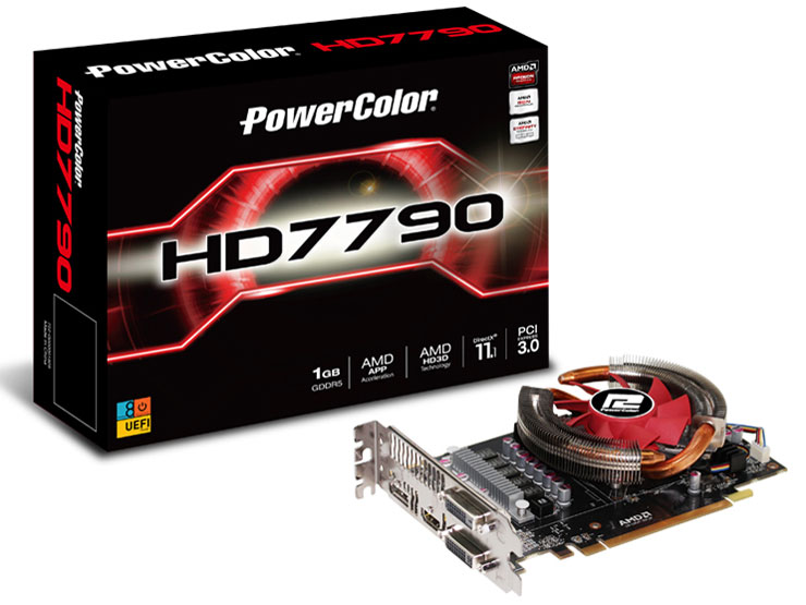 PowerColor HD7790 1GB GDDR5 OC (V2) AX7790 1GBD5-DHV2/OC [PCIExp 1GB] の製品画像