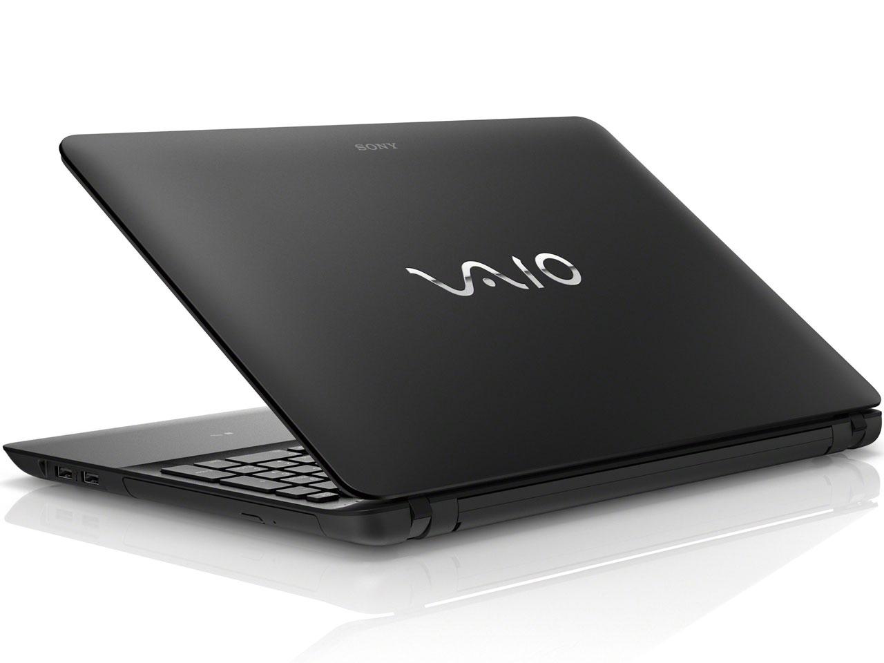 『本体 背面』 VAIO Fit 15E SVF15217CJB [ブラック] の製品画像