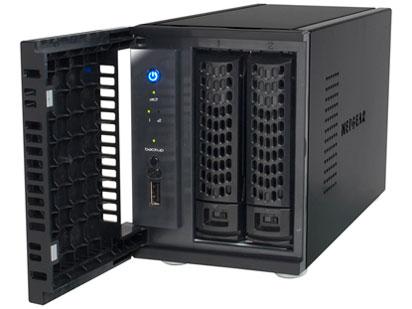 『本体 正面 斜め2』 ReadyNAS 102 2ベイ デスクトップ型ネットワークストレージ RN10200-100AJS の製品画像