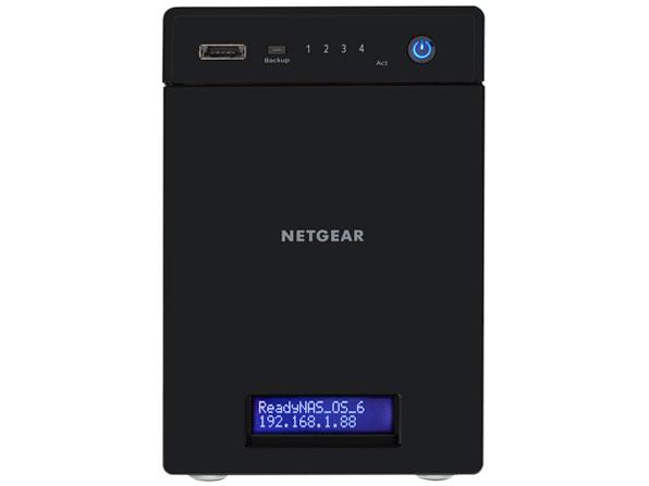 『本体 正面』 ReadyNAS 104 4ベイ デスクトップ型ネットワークストレージ RN10400-100AJS の製品画像