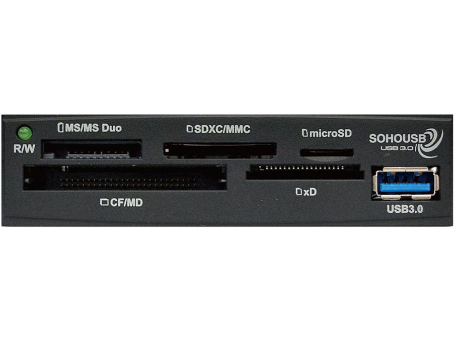 『本体 接続端子』 OWL-CR6U3(B)/BOX [USB 61in1 ブラック] の製品画像