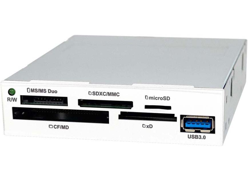 『交換用白ベゼル 装着イメージ』 OWL-CR6U3(B)/BOX [USB 61in1 ブラック] の製品画像