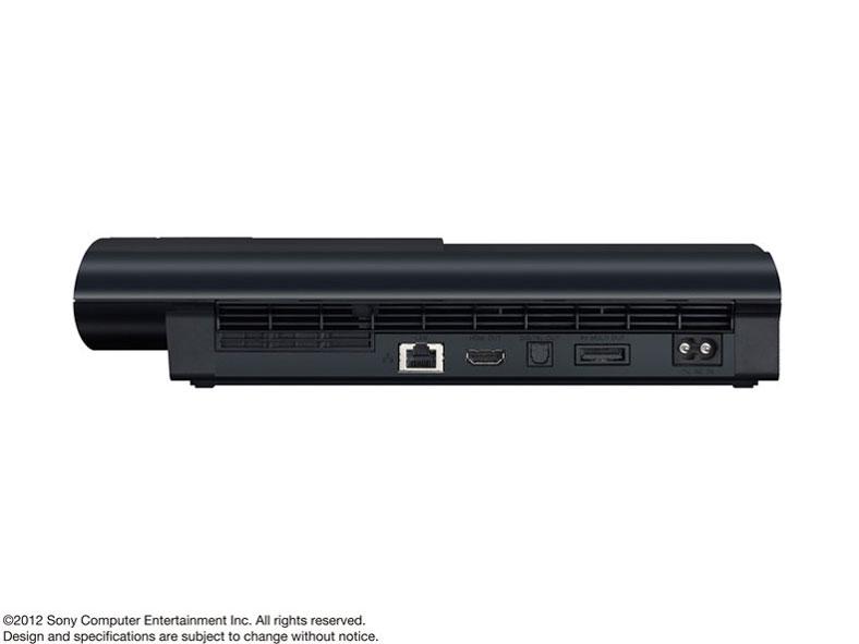『本体 横置き 背面』 プレイステーション3 HDD 250GB チャコール・ブラック CECH-4200B の製品画像