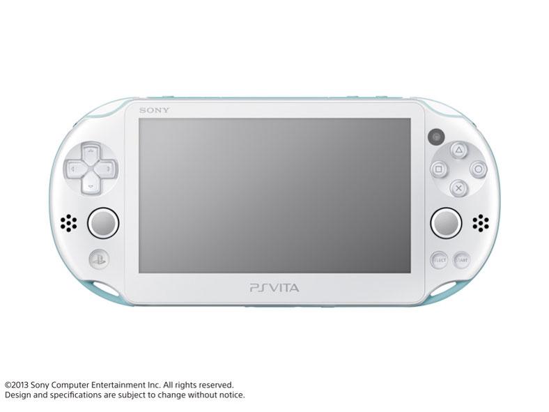 PlayStation Vita (プレイステーション ヴィータ) Wi-Fiモデル PCH-2000 ZA14 [ライトブルー/ホワイト] の製品画像