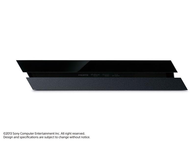 『本体 縦置き 正面』 プレイステーション4 HDD 500GB First Limited Pack ジェット・ブラック CUHJ-10000 の製品画像