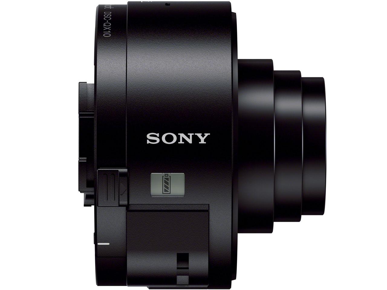 『本体 左側面1』 サイバーショット DSC-QX10 (B) [ブラック] の製品画像
