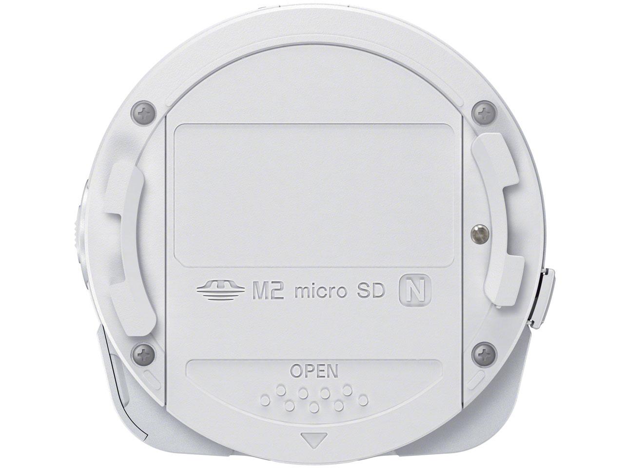 『本体 背面』 サイバーショット DSC-QX10 (W) [ホワイト] の製品画像