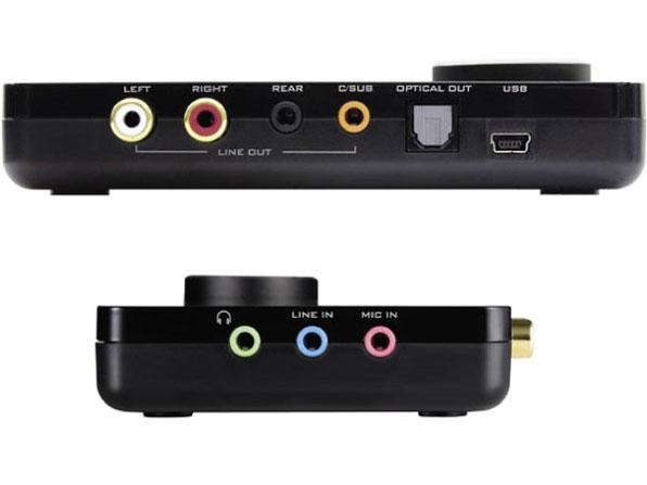 『本体 接続部分』 Sound Blaster X-Fi Surround 5.1 Pro r2 SB-XFI-SR5R2 の製品画像