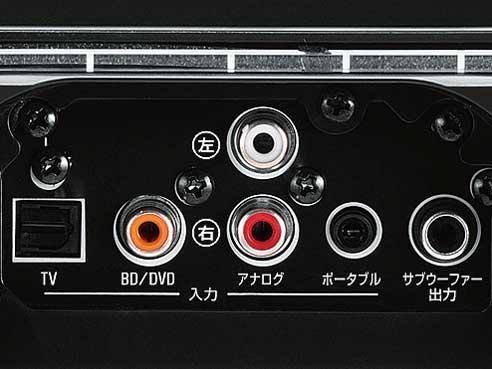 『本体 接続部分』 デジタル・サウンド・プロジェクター YSP-1400 の製品画像