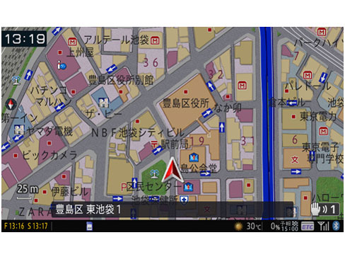 『ルート画面1』 楽ナビ AVIC-MRZ099 の製品画像