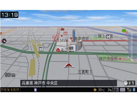 『ルート画面3』 楽ナビ AVIC-MRZ077 の製品画像