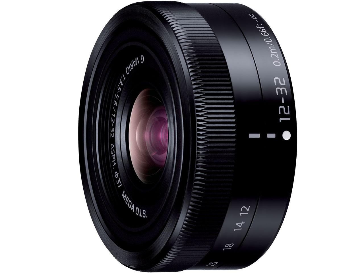 LUMIX G VARIO 12-32mm/F3.5-5.6 ASPH./MEGA O.I.S. H-FS12032-K [ブラック] の製品画像