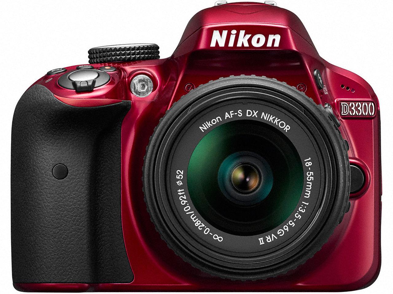 D3300 18-55 VRII レンズキット [レッド] の製品画像