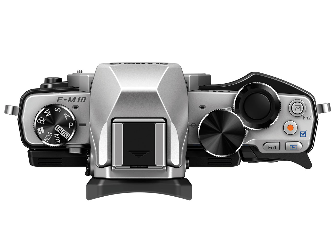 『本体 上面』 OLYMPUS OM-D E-M10 ボディ [シルバー] の製品画像