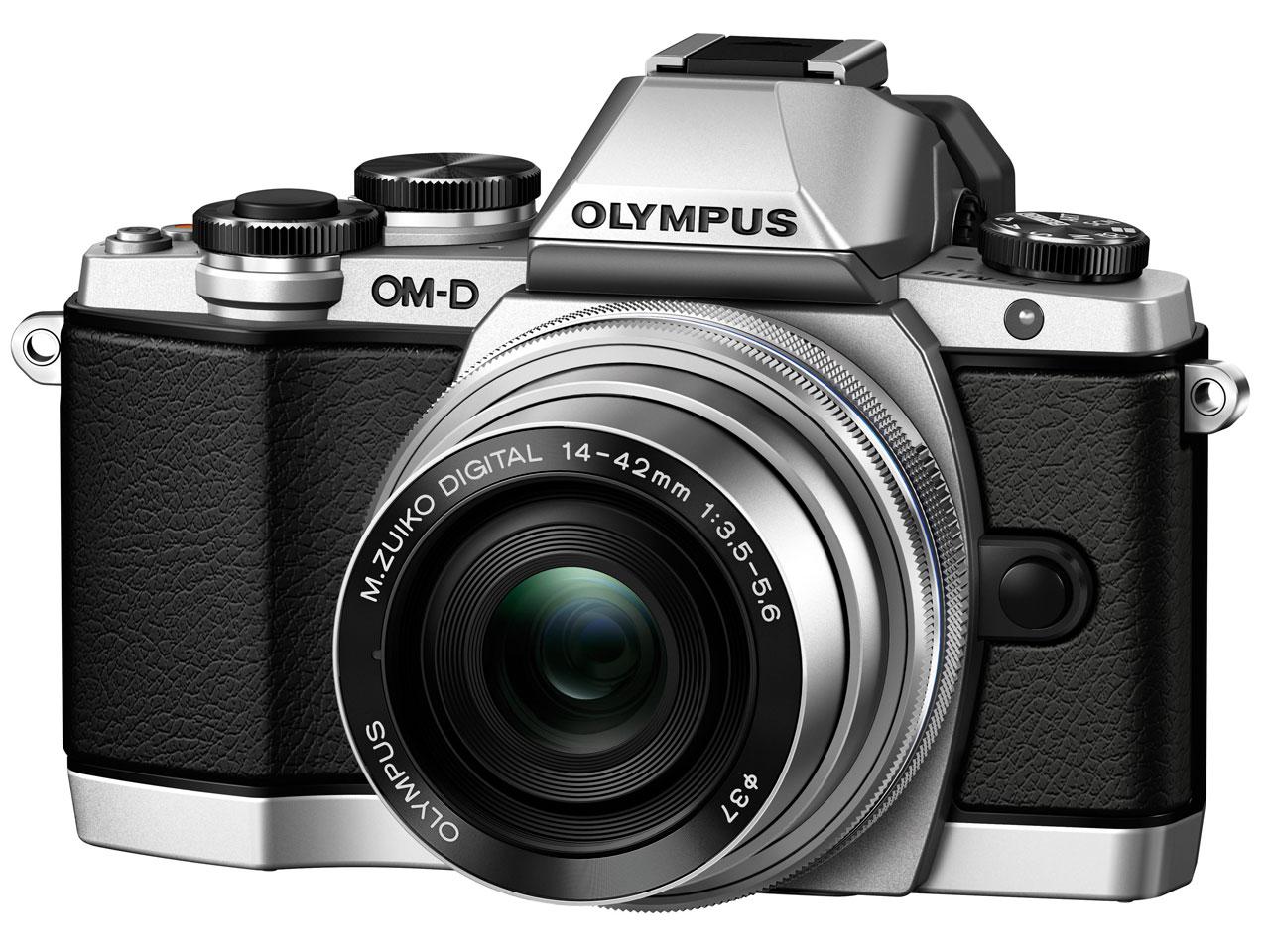 『本体 正面1』 OLYMPUS OM-D E-M10 14-42mm EZ レンズキット [シルバー] の製品画像