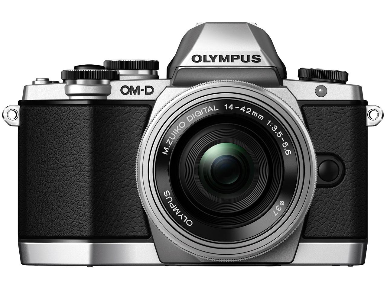 『本体 正面3』 OLYMPUS OM-D E-M10 14-42mm EZ レンズキット [シルバー] の製品画像