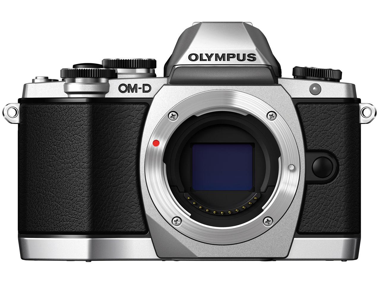 『本体 正面5』 OLYMPUS OM-D E-M10 14-42mm EZ レンズキット [シルバー] の製品画像