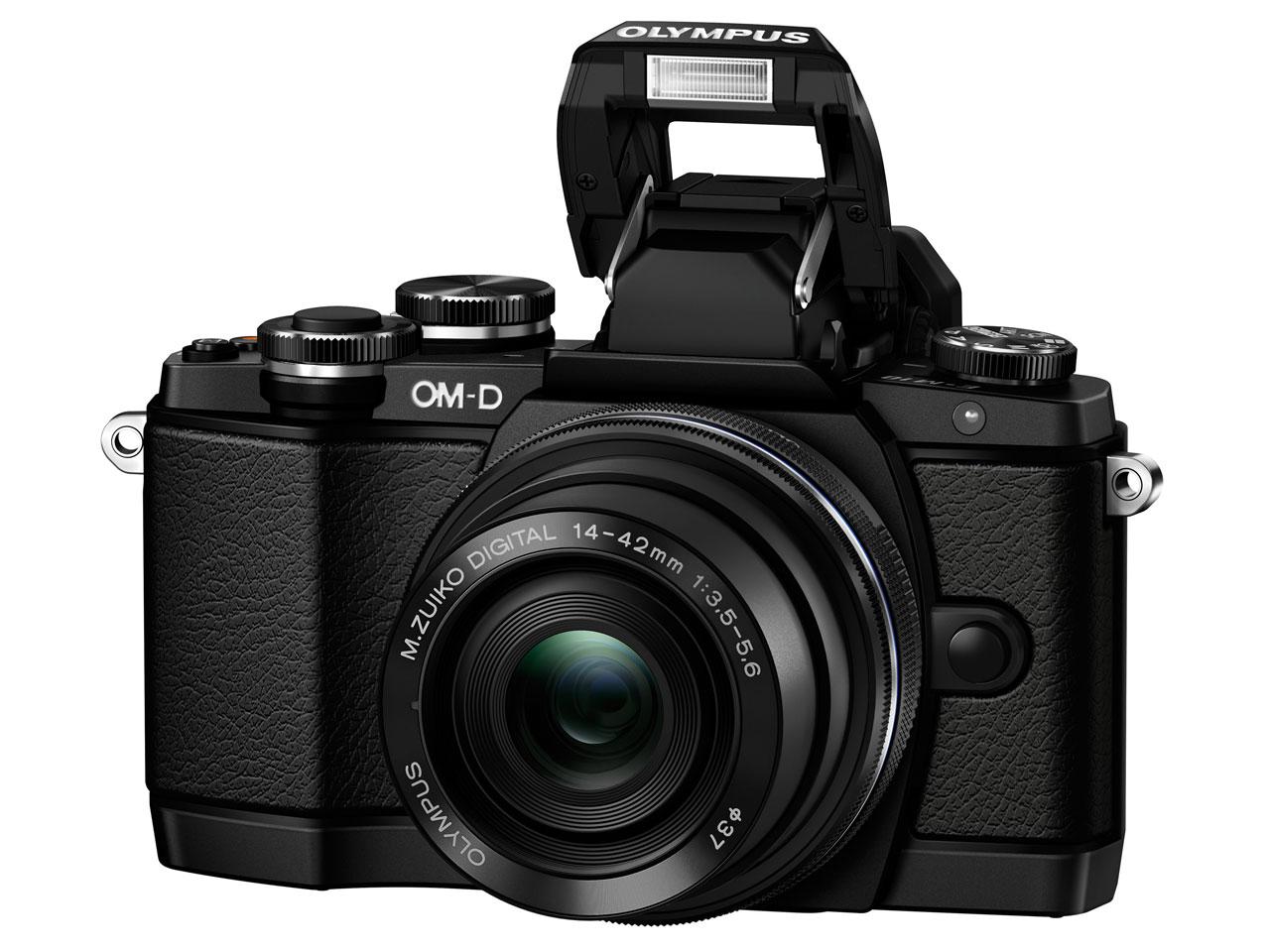 『本体 正面2』 OLYMPUS OM-D E-M10 14-42mm EZ レンズキット [ブラック] の製品画像
