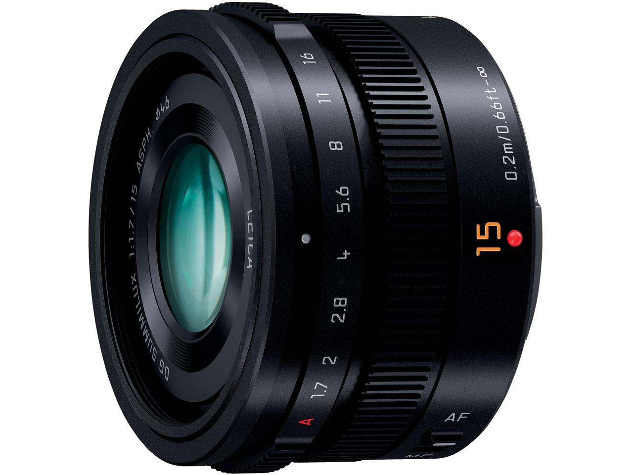 LEICA DG SUMMILUX 15mm/F1.7 ASPH. H-X015-K [ブラック] の製品画像