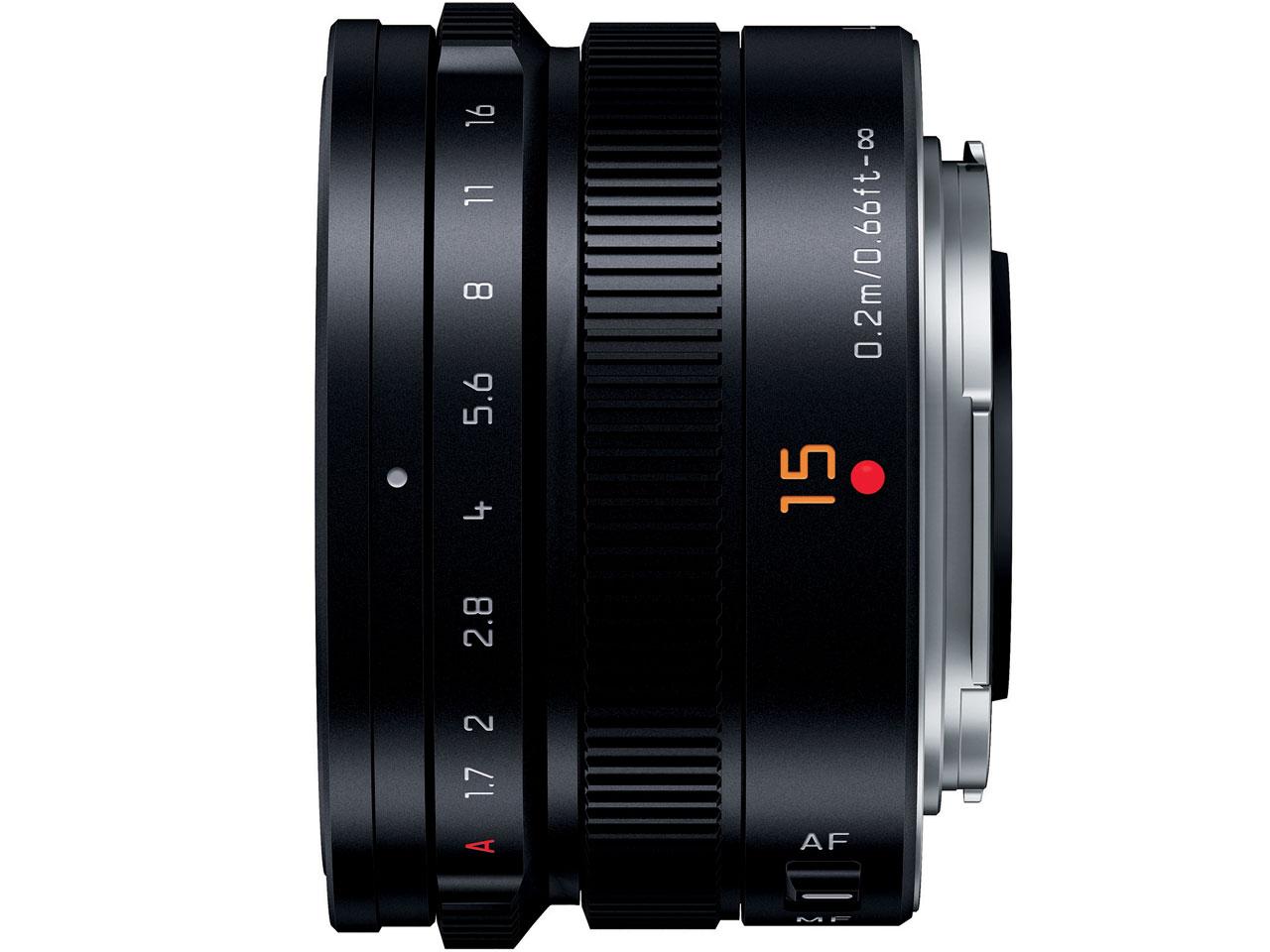 『本体 側面』 LEICA DG SUMMILUX 15mm/F1.7 ASPH. H-X015-K [ブラック] の製品画像