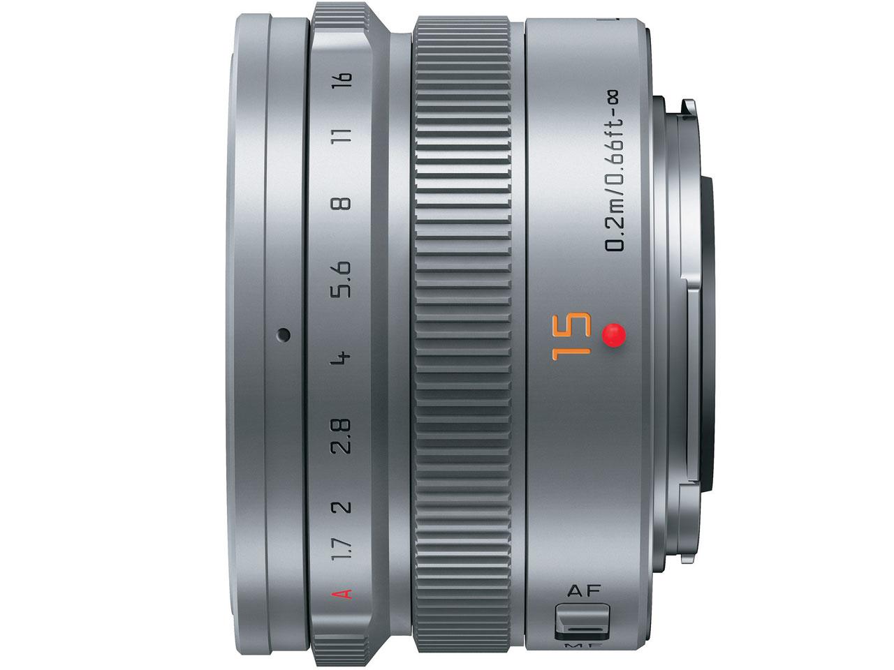 『本体 側面』 LEICA DG SUMMILUX 15mm/F1.7 ASPH. H-X015-S [シルバー] の製品画像