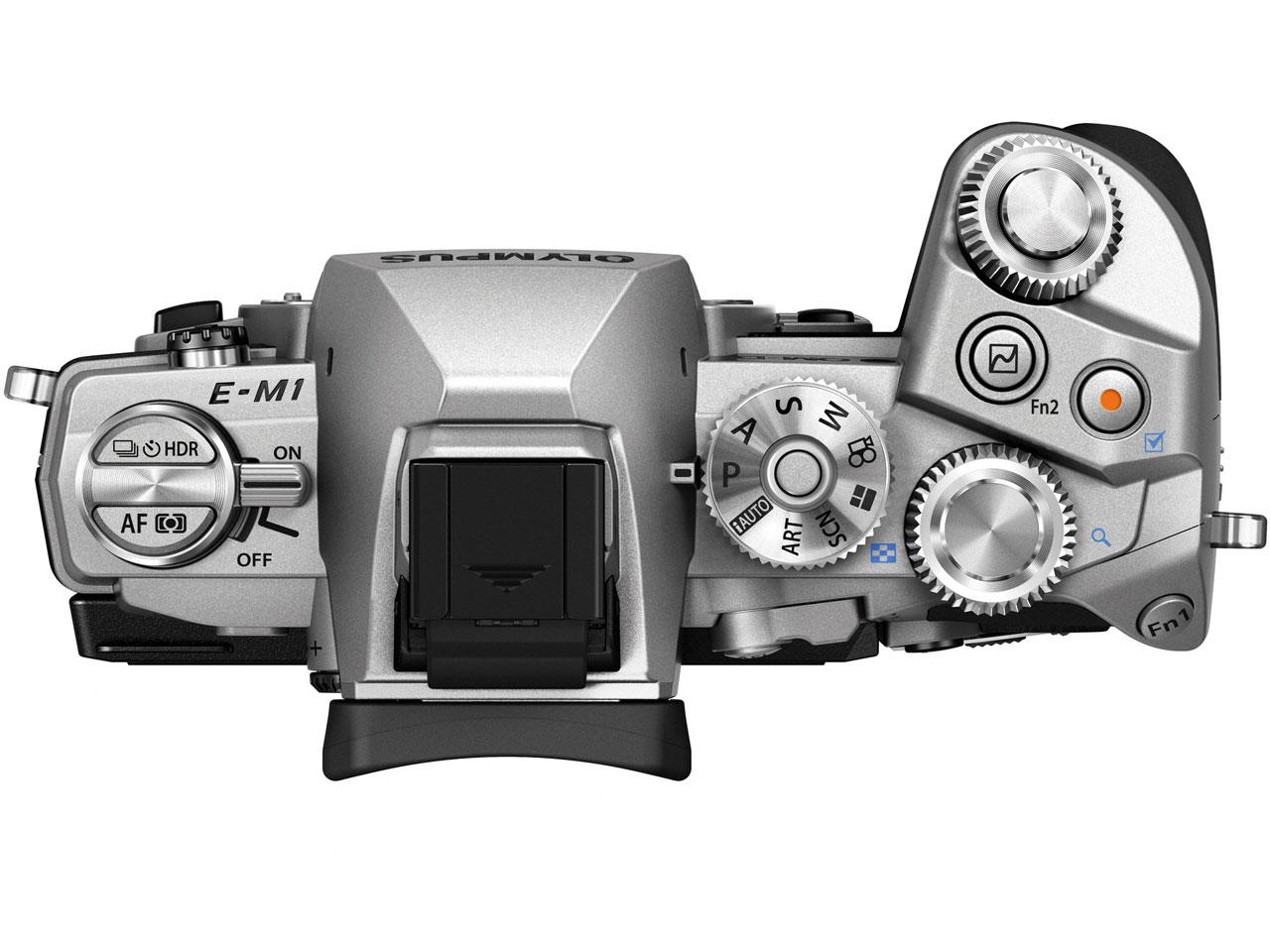 『本体 上面』 OLYMPUS OM-D E-M1 ボディ [シルバー] の製品画像