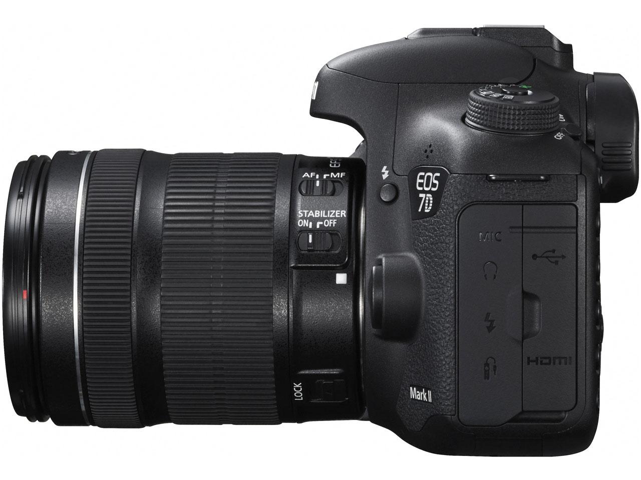『本体 右側面』 EOS 7D Mark II EF-S18-135 IS STM レンズキット の製品画像