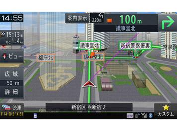 『ルート画面1』 楽ナビ AVIC-RZ09 の製品画像