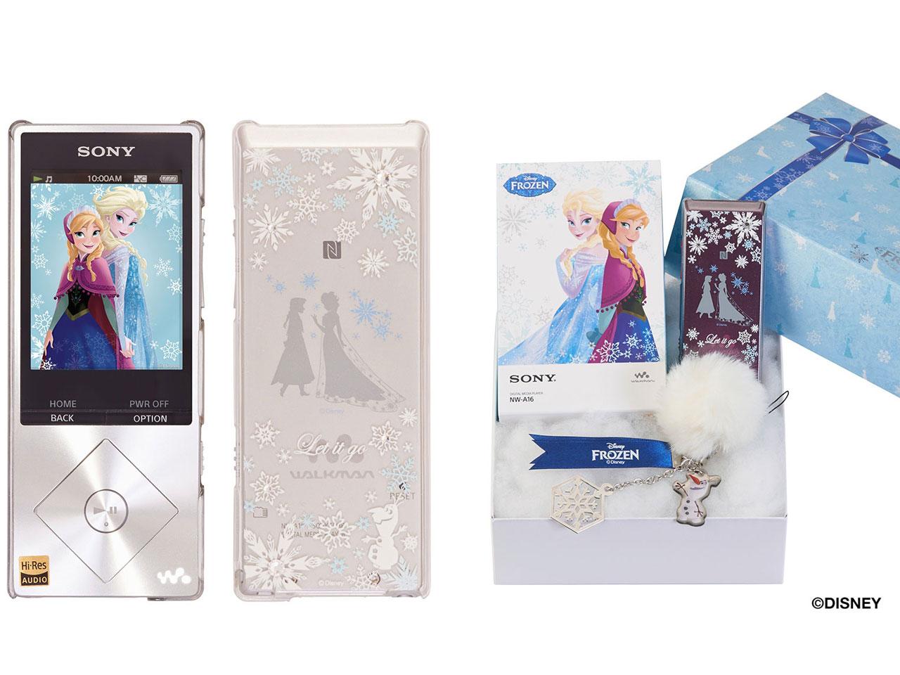 NW-A16/FROZEN ウォークマン Aシリーズ アナと雪の女王オリジナルモデル [32GB] の製品画像