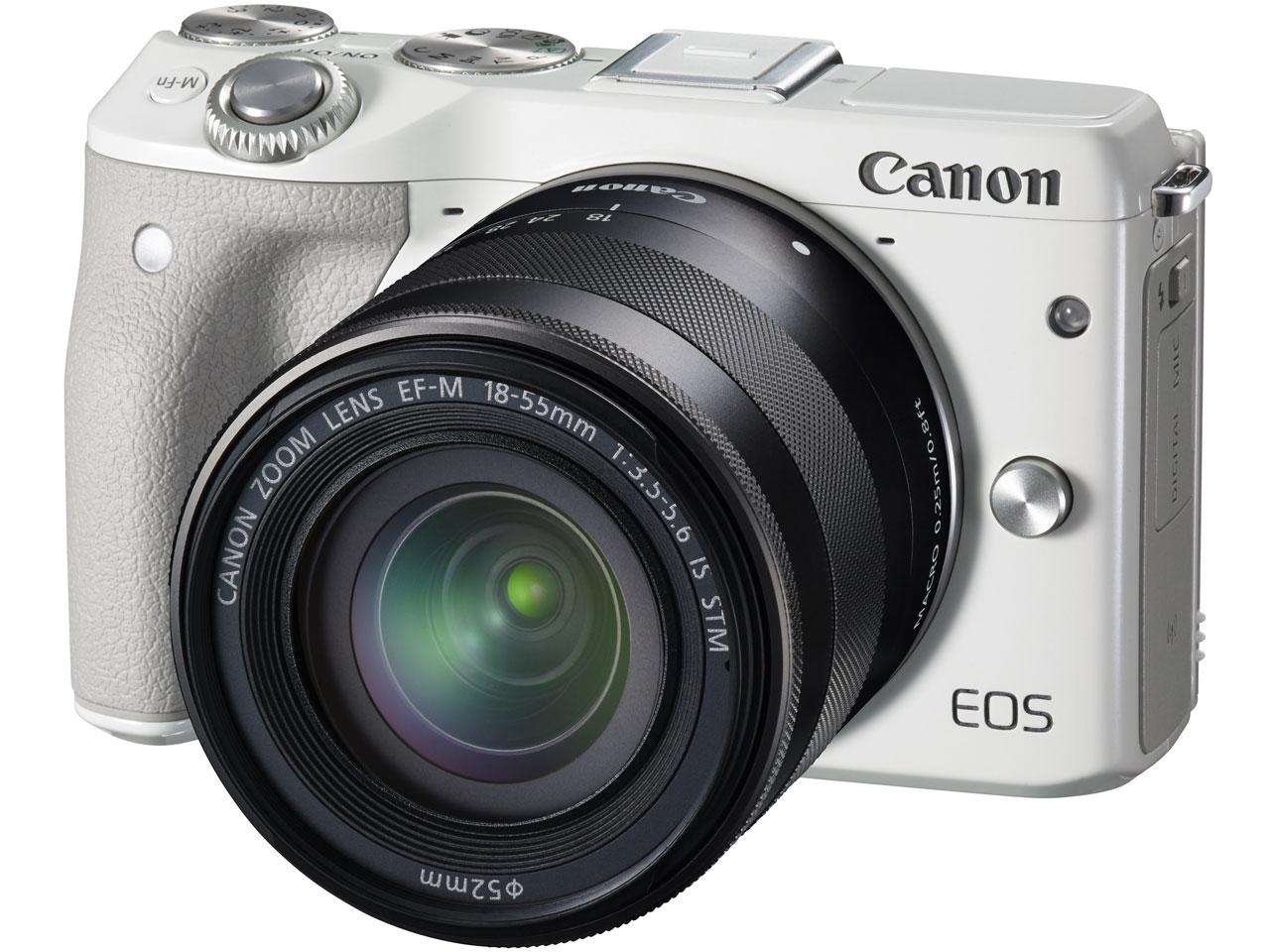 『本体 正面2』 EOS M3 ダブルズームキット [ホワイト] の製品画像