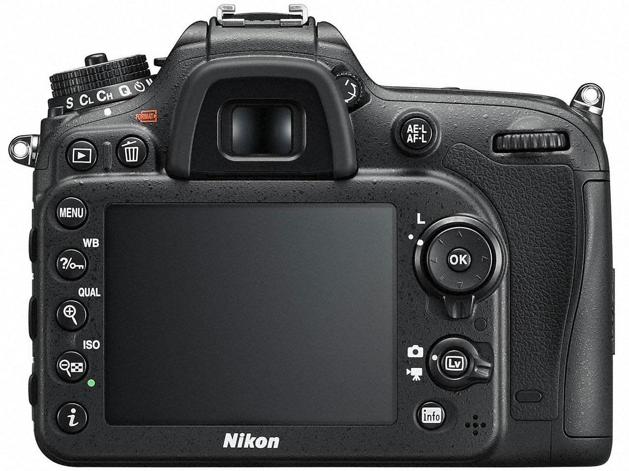 『本体 背面』 D7200 18-140 VR レンズキット の製品画像