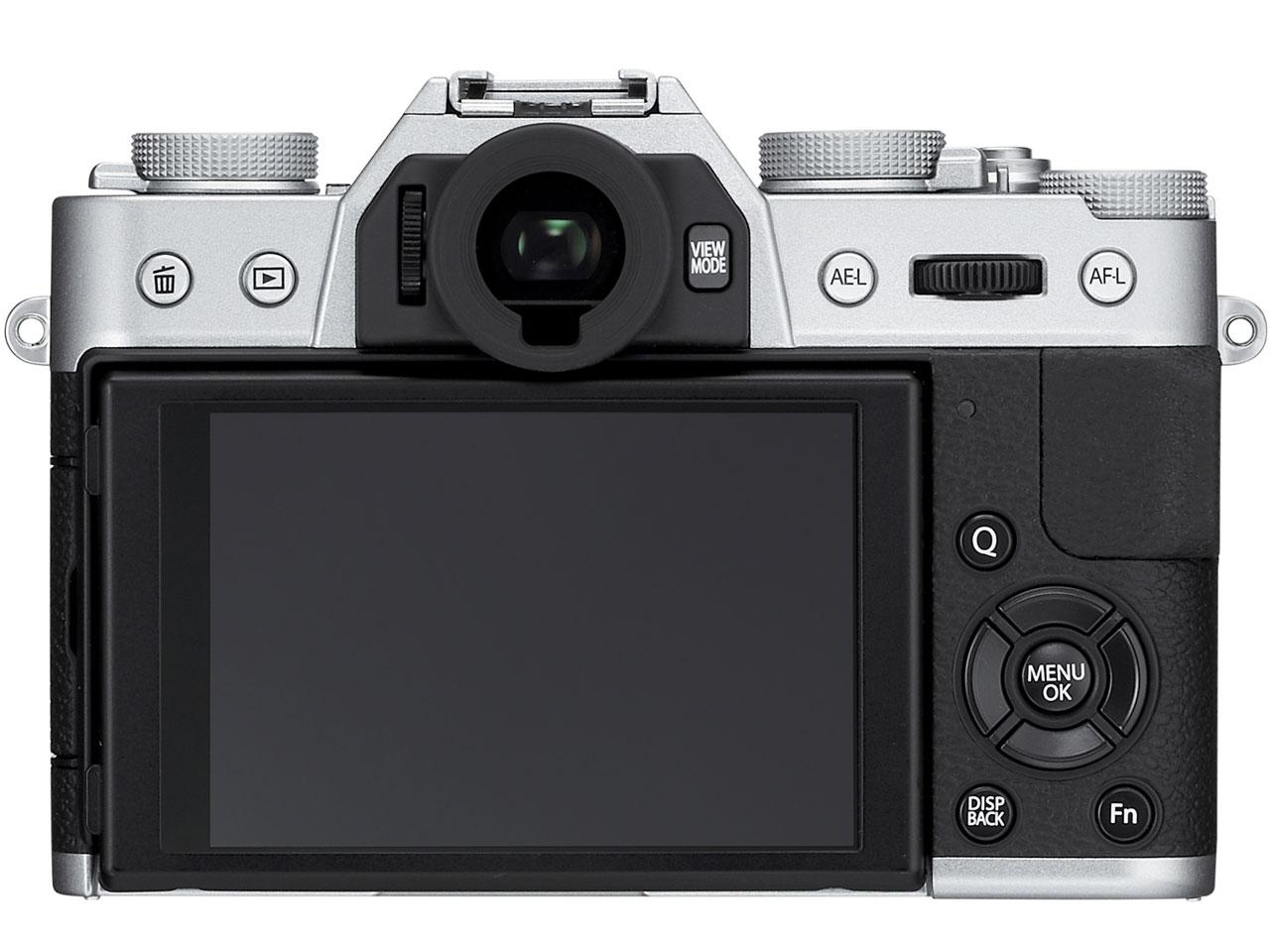 『本体 背面』 FUJIFILM X-T10 レンズキット [シルバー] の製品画像