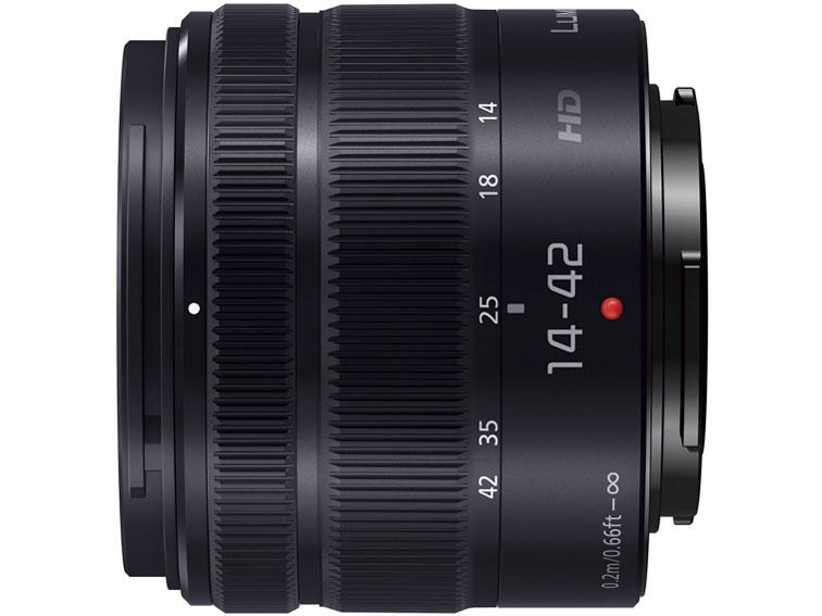 『本体 側面』 LUMIX G VARIO 14-42mm/F3.5-5.6 II ASPH./MEGA O.I.S. H-FS1442A-KA [ブラック] の製品画像