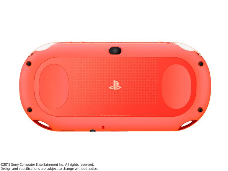 『本体 背面1』 PlayStation Vita (プレイステーション ヴィータ) Wi-Fiモデル PCH-2000 ZA24 [ネオン・オレンジ] の製品画像