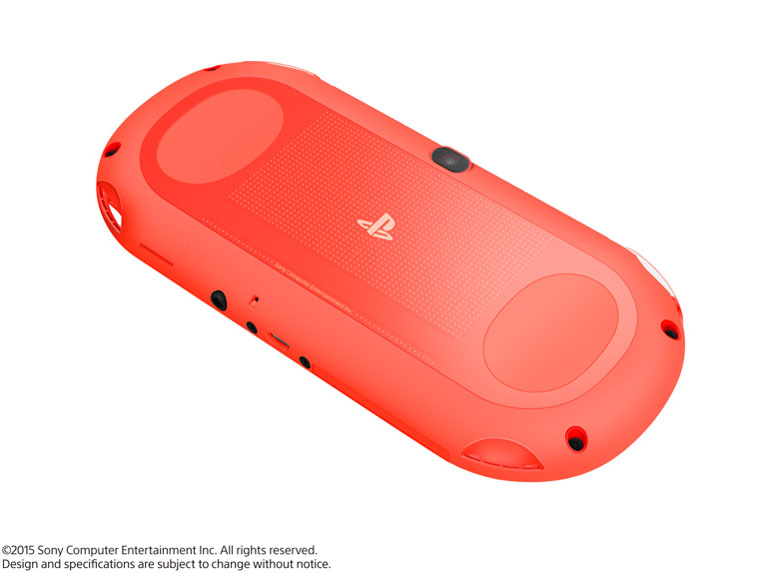 『本体 背面2』 PlayStation Vita (プレイステーション ヴィータ) Wi-Fiモデル PCH-2000 ZA24 [ネオン・オレンジ] の製品画像