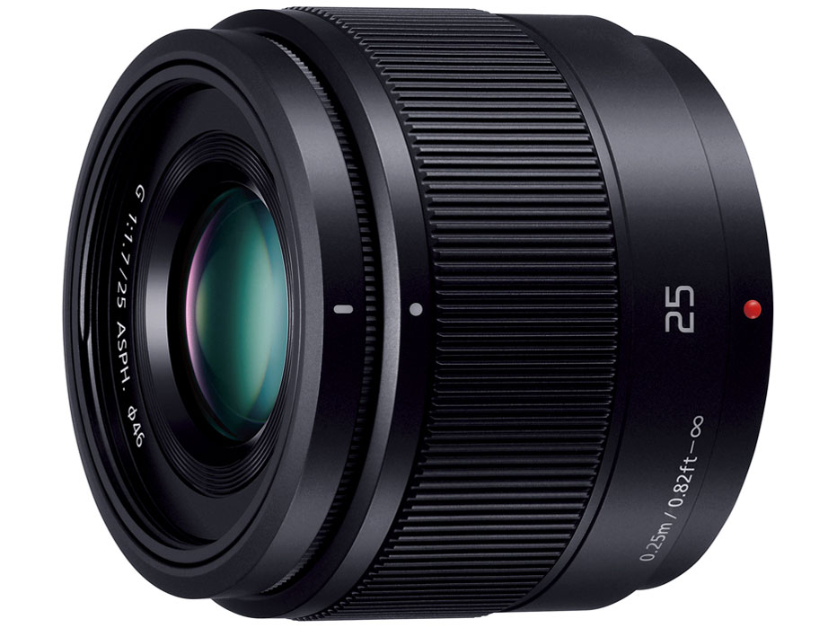 LUMIX G 25mm/F1.7 ASPH. H-H025-K [ブラック] の製品画像