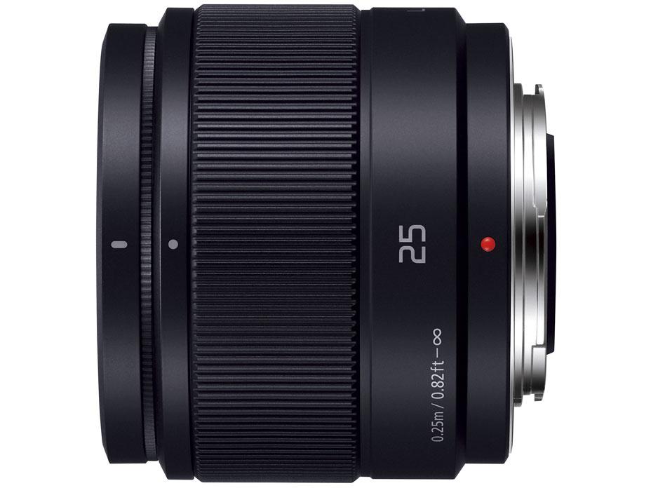 『本体 側面』 LUMIX G 25mm/F1.7 ASPH. H-H025-K [ブラック] の製品画像