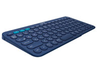 『本体 斜め』 K380 Multi-Device Bluetooth Keyboard K380BL [ブルー] の製品画像