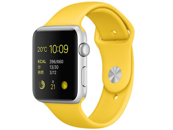 Apple Watch Sport 42mm MMFE2J/A [イエロースポーツバンド] の製品画像