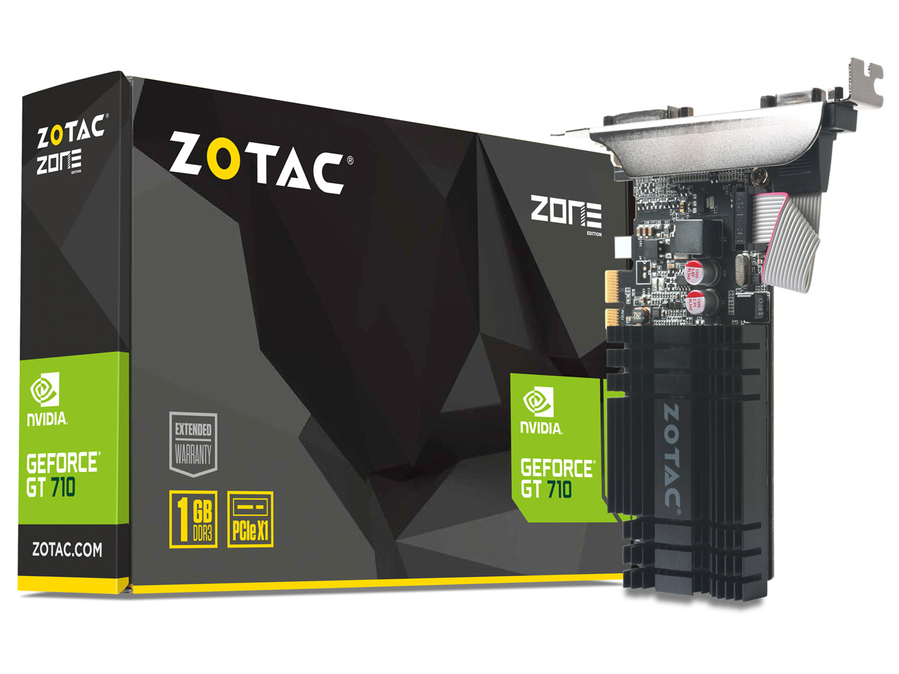 ZOTAC Geforce GT 710 ZONE Edition 1GB ZT-71304-20L [PCIExp 1GB] の製品画像
